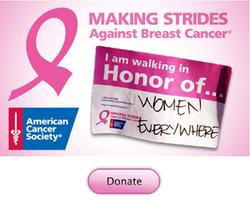 Making strides donate walk