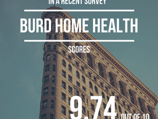 Burd Home Health Score 9.74 out of 10