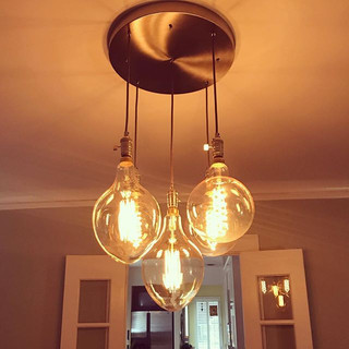 Another stunning, custom, five light pendant installed.jpg