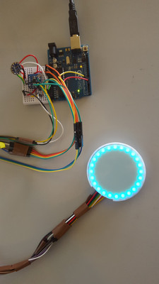 Early prototypes for the Control's LED Halo built by my team in 2015.