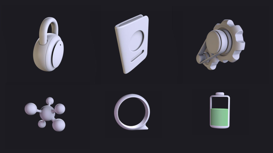 3 is the new 2. My visual design team created a UI Kit with both 2D and 3D system icons for LuminRT apps.