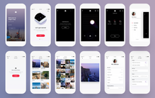Several screen for the Magic Leap Mobile Comanion app that my team designed.