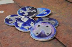 Blue raku buttons