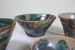 raku wheel thrown bowls