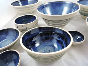 Mixed sized bowls