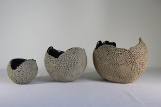 Coiled bowls in 3 sizes