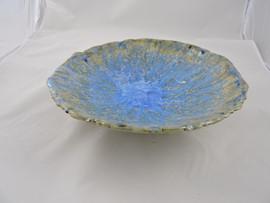 Symphony glazed large coiled bowl with tripod feet