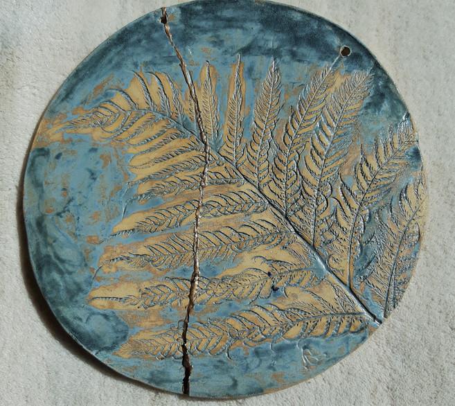 Fern Platter Kintsugi