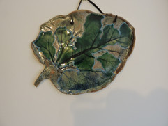 Leaf wall art and platter