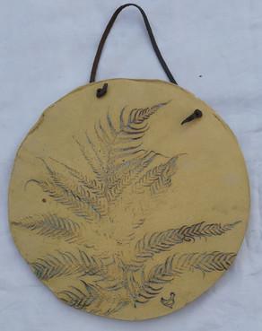 Leaf wall hanging/platter 29 c.m diam