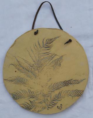 Leaf platter wall art reversible