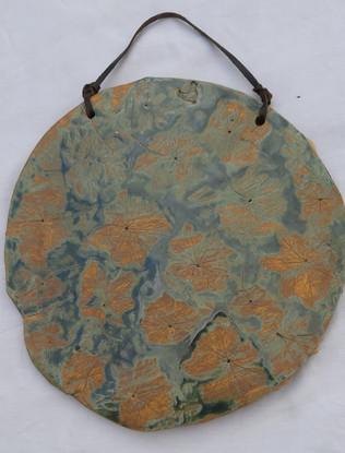 Leaf platter wall art (reversible)