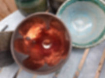 This a Raku gem.  Pure copper reduction.
