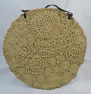 Reverse side of the geranium platter