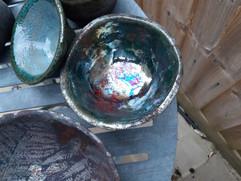 Raku handmade bowl