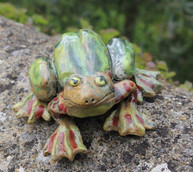 Stoneware frog