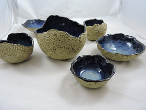 Coiled bowls