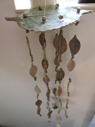 Leaf wind chime