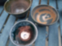 small bowls with lustre and contrast wit