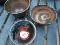 Raku thrown bowls