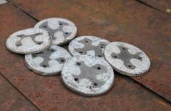 White raku buttons