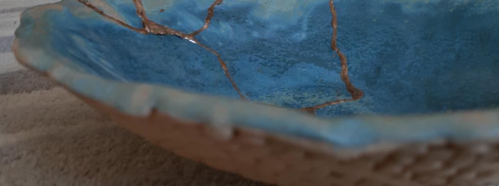Kintsugi Coiled Bowl Close-up