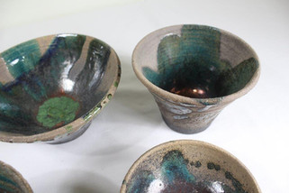 Wheel thrown raku bowls