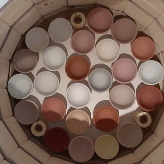 These are my glaze sample pots