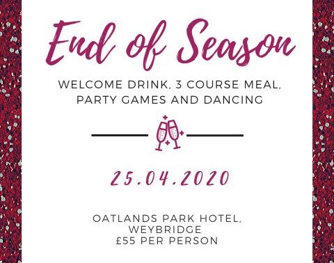 OGHC End of Season Dinner 2020