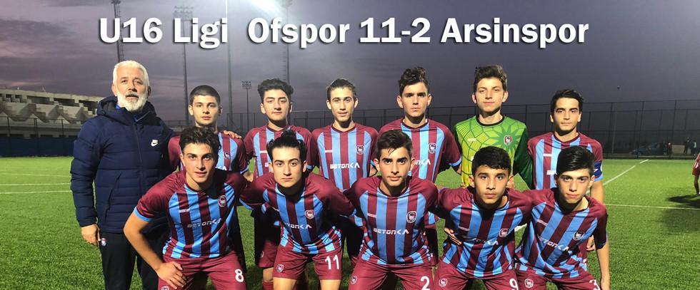 U16 Ligi Ofspor 11-2 Arsinspor