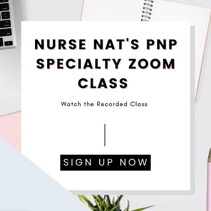 PNP Specialty Zoom Class