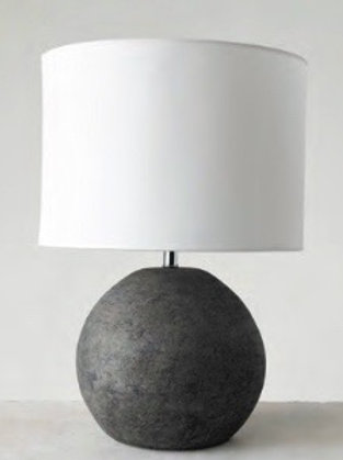 Distressed Iron Table Lamp