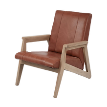 MidCentury Leather Accent Chair