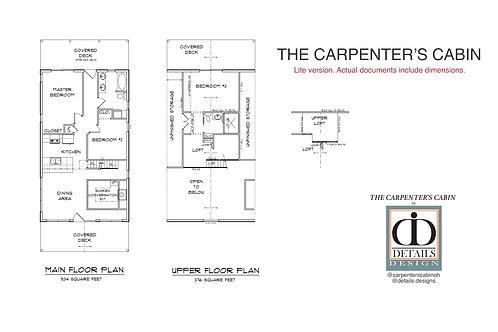 Complete Blueprints / Bid Plans for the Carpenter's Cabin