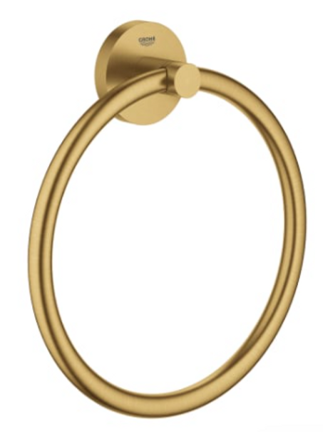 Brushed Gold Towel Ring