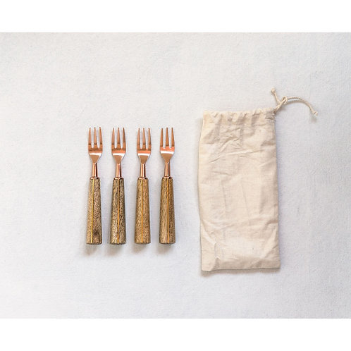 Appetizer Forks + Storage Bag