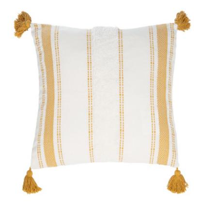 Mustard Tassel Pillow