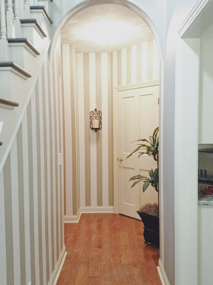 Transitional Home Striped Hall