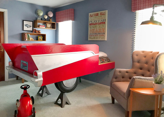 Child's Room with Custom Car Bed
