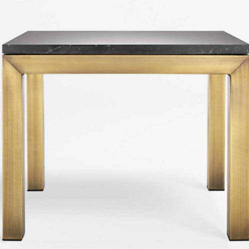 Brass & Marble Parsons Table