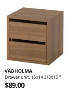 IKEA Vadholma- 2 Storage Drawers