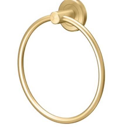 Brushed Gold Towel Ring