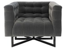 Charcoal Tufted Accent Chair