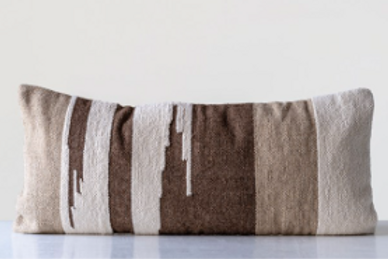 Wool Kilim Lumbar / Body Pillow