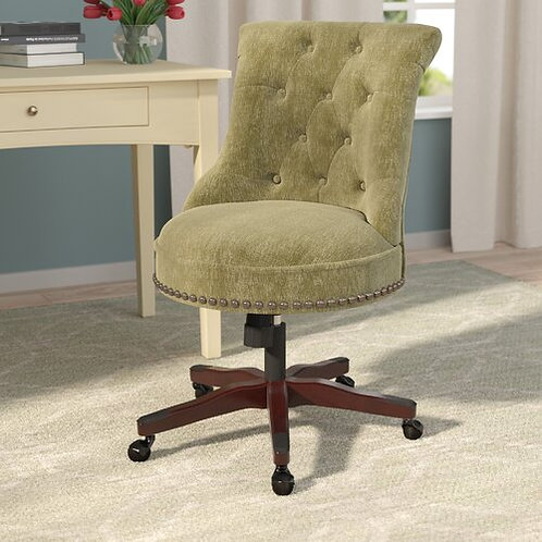 Button-Tufted, Upholstered Task Chair
