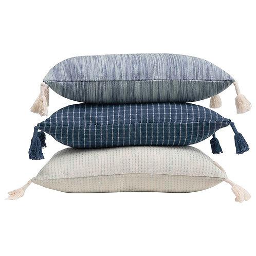 """Natural Cotton 24"""" Lumbar Pillow"""