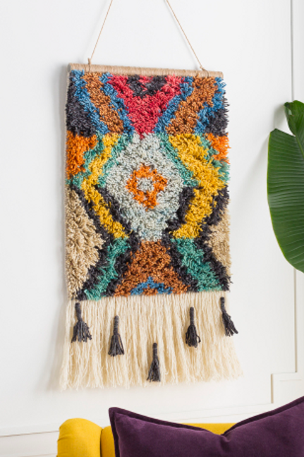 Boho Wool Wall Hanging