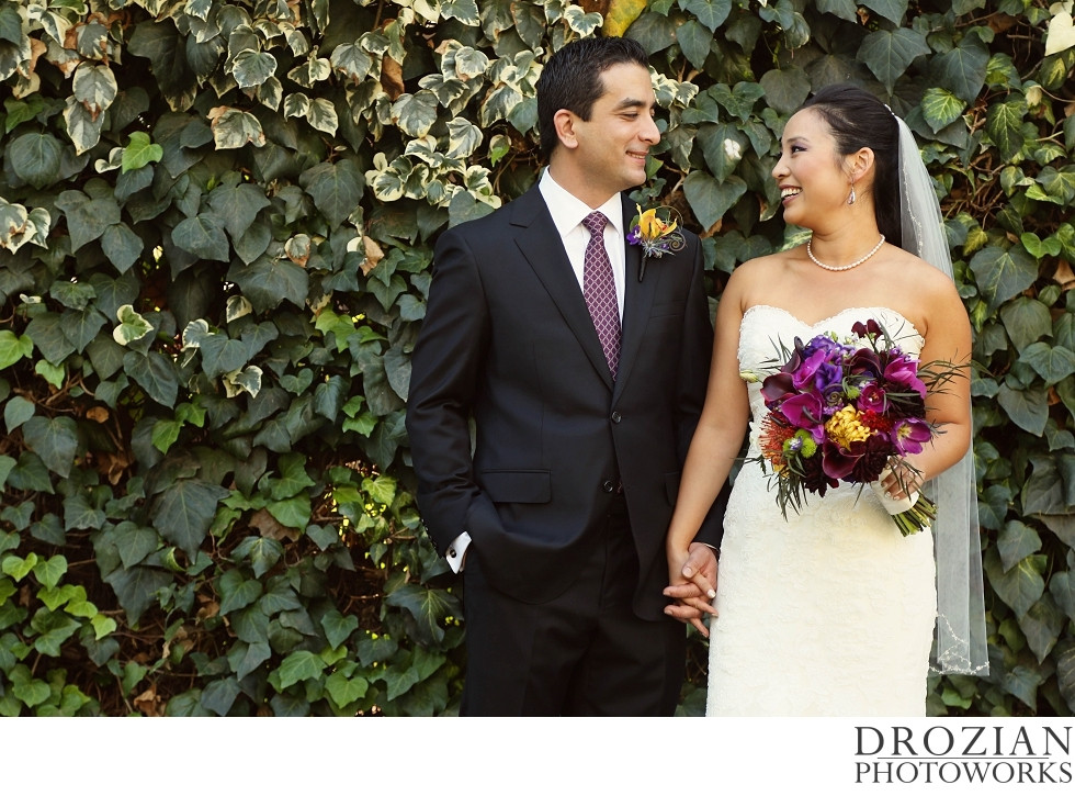 Bridal Bouquet and Groom's Boutonniere by Visual Impact Design | Crocker Art Museum Wedding | Drozian Photoworks