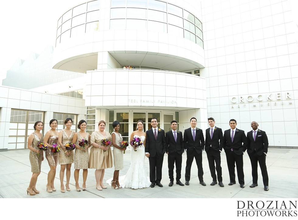 Wedding Flowers and Bouquets by Visual Impact Design | Crocker Art Museum Wedding | Drozian Photoworks