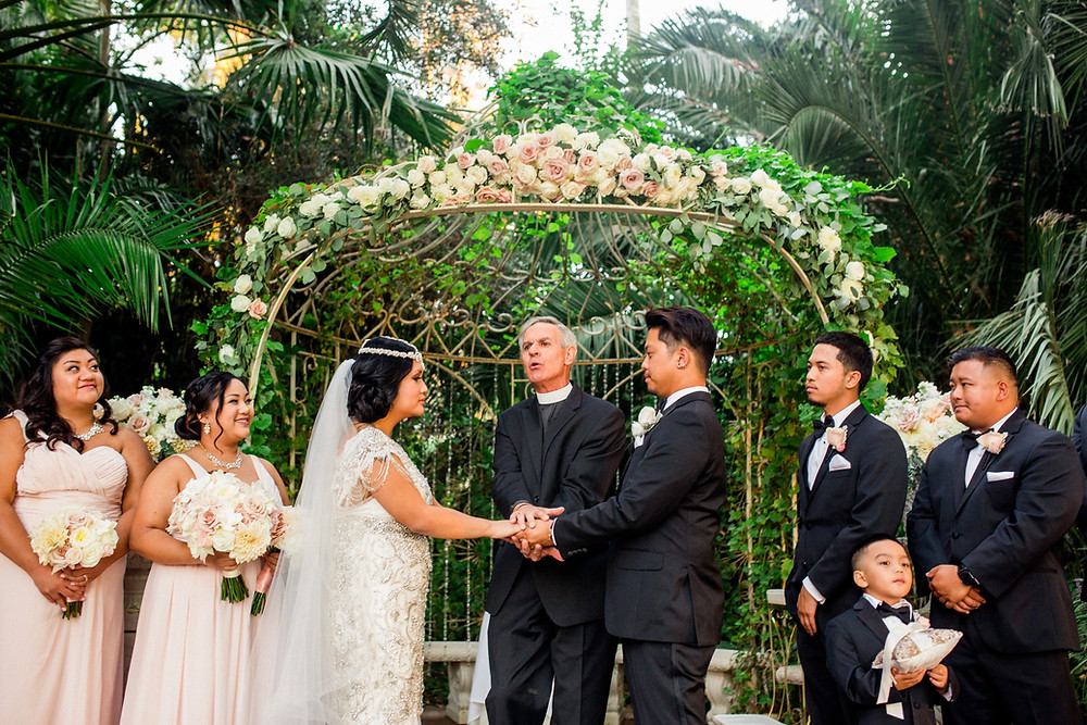 Romantic ceremony arch